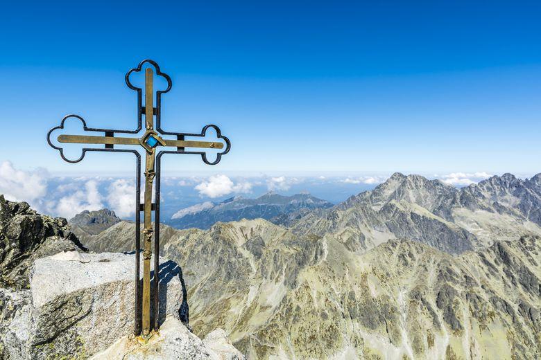 Gipfelkreuz auf dem Gerlach