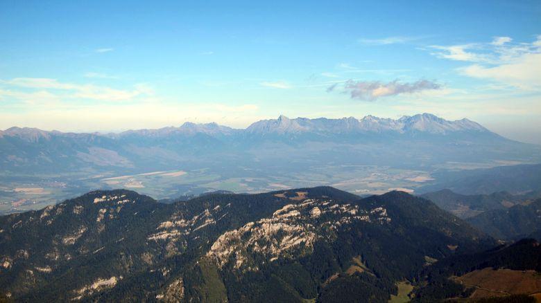 Ausblick zur Hohen Tatra von Dumbier