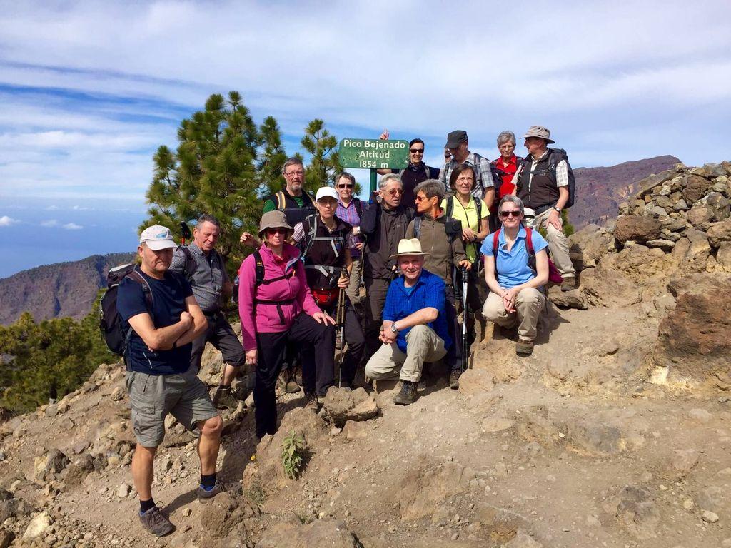 Gruppenwanndern auf La Palma