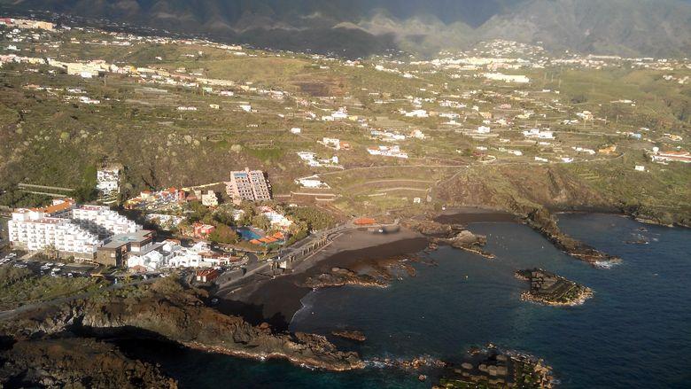 Ostrov La Palma: mesto Los Cancajos