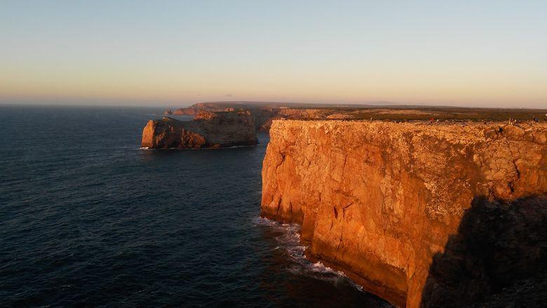 Portugalsko, Algarve, útesy pri západe slnka