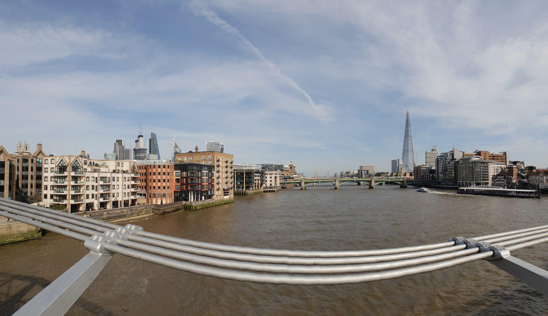 Londýn, pohľad z Millennium bridge